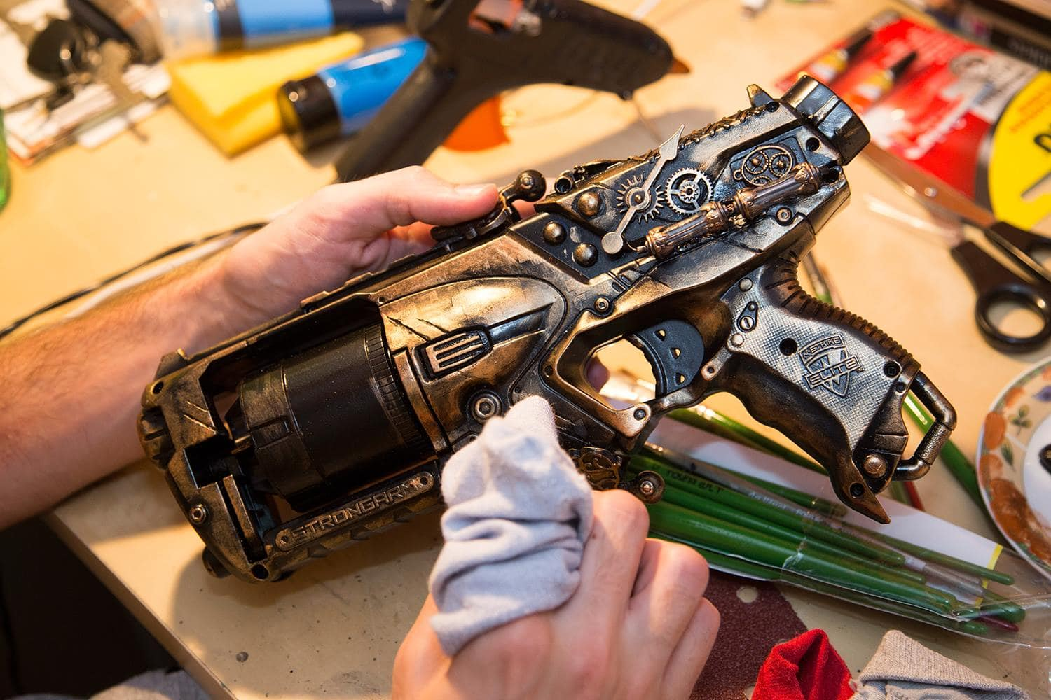 how to make your nerf gun steampunk