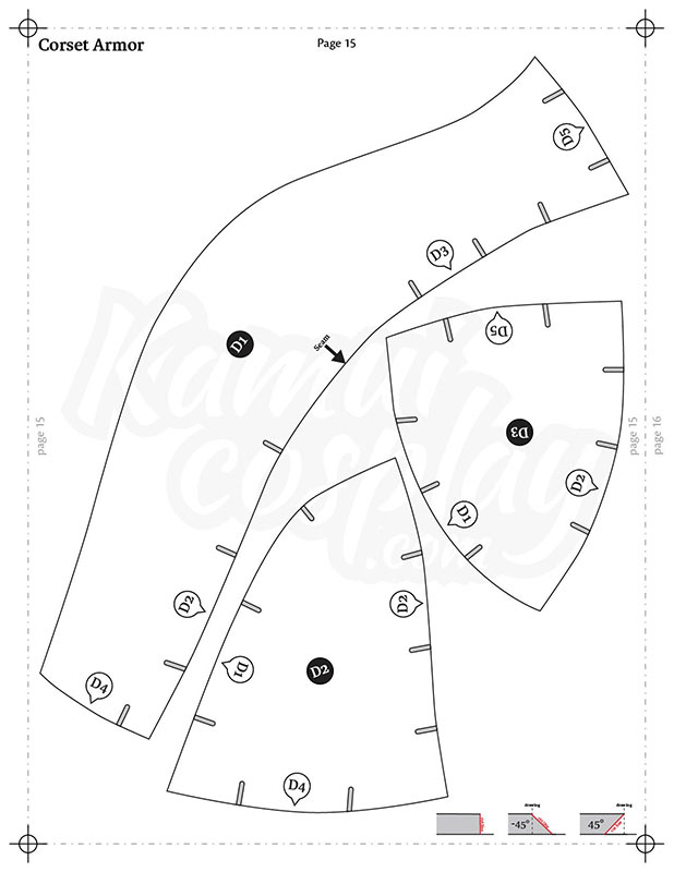 foam female breastplate pattern collection