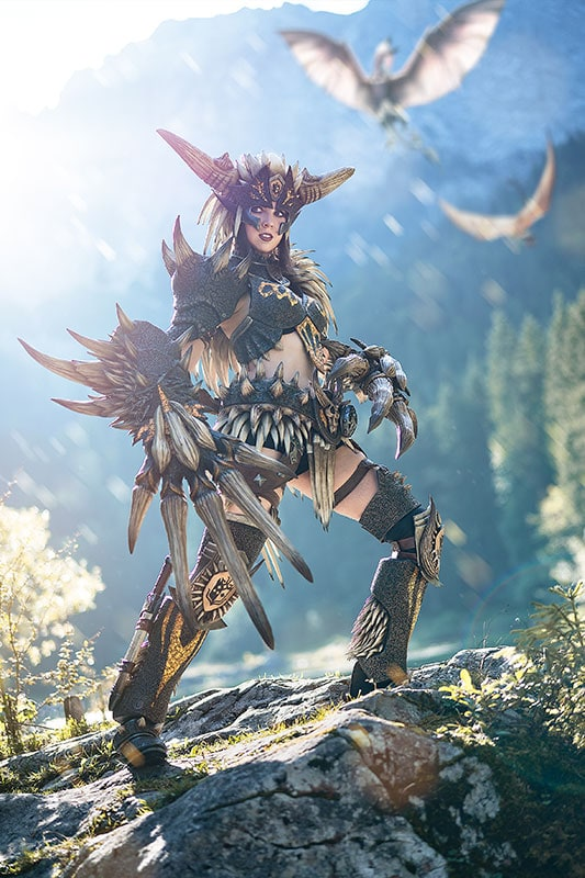 Monster Hunter World Nergigante Cosplay Print Kamuicosplay