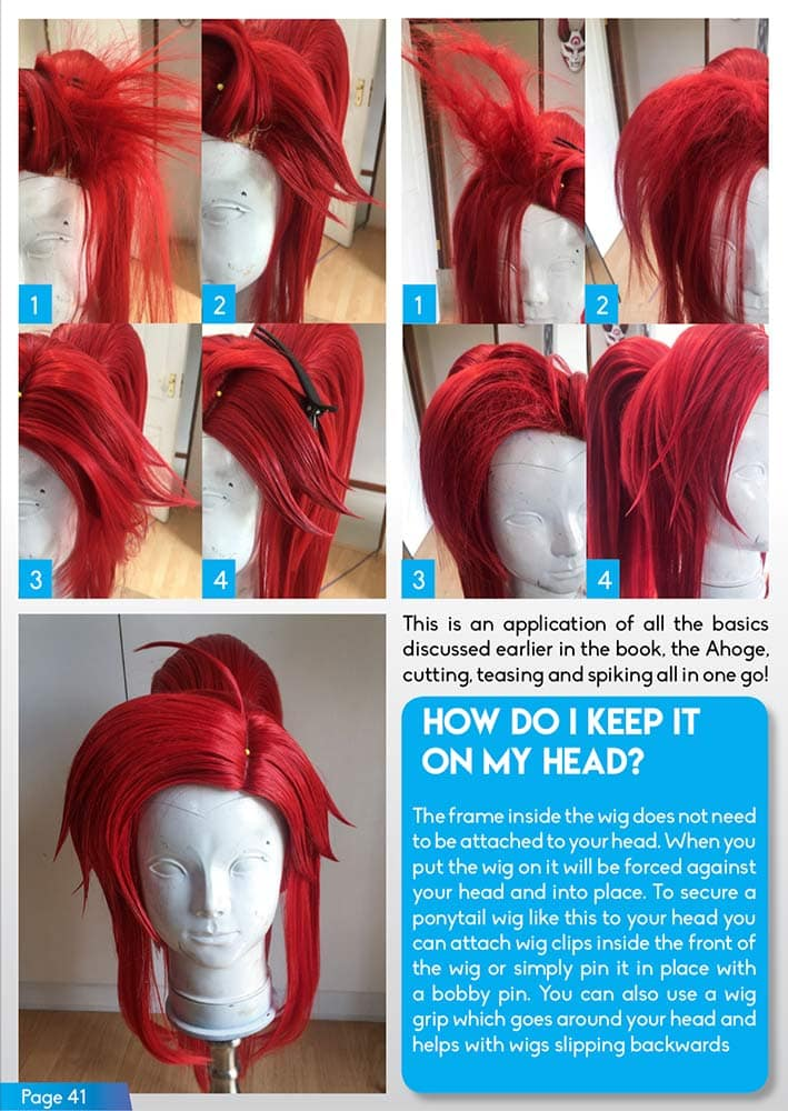 Wig Styling for Cosplay - DOWNLOAD PDF - KamuiCosplay